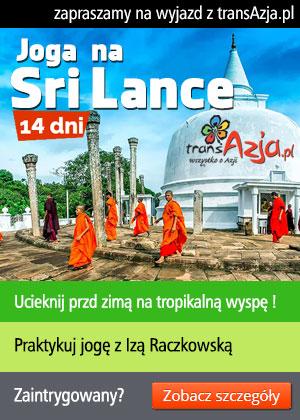 Krzysztof Stępień i transAzja.pl zaprasza na Sri Lankę, 14 dni - wyjazd objazdowy z wypoczynkiem na plaży i zajęciami jogi